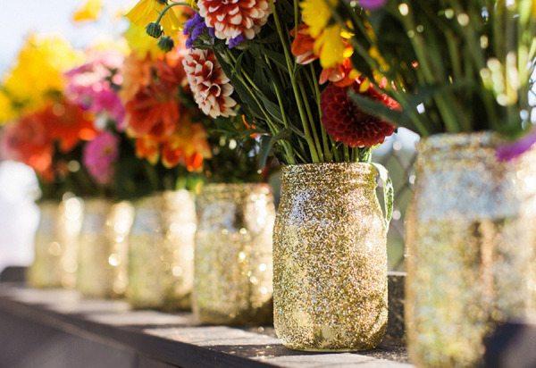 Mason Jar Floral Wedding Centerpieces