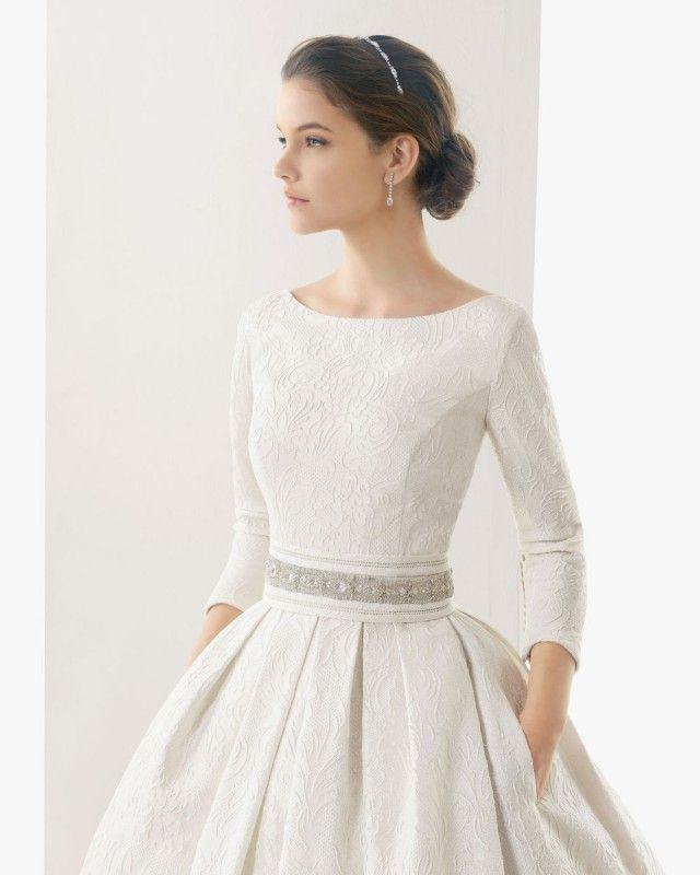 long sleeve vow renewal dress