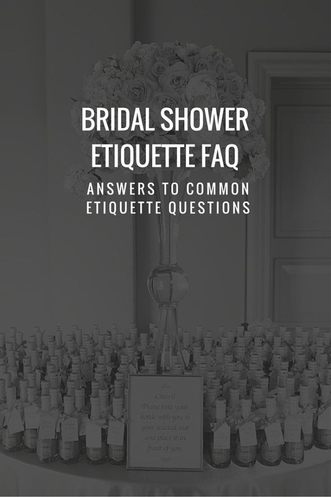 Bridal Shower Etiquette FAQ