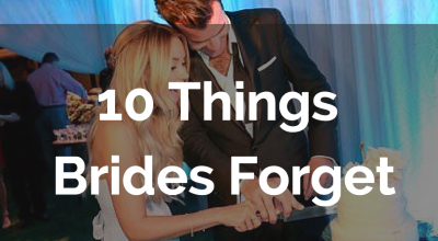 things brides forget