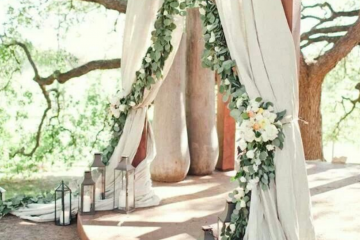 outdoor wedding ceremony entrance