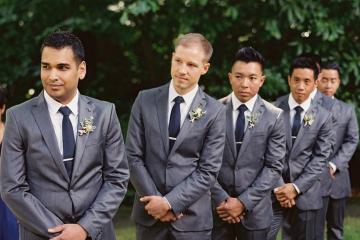 groomsmen matching suits