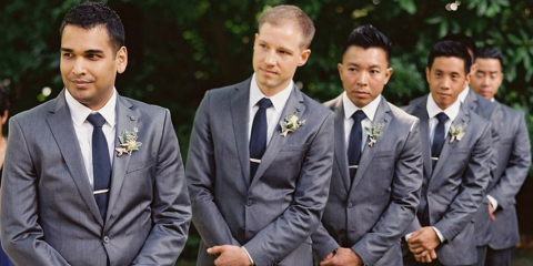 groomsmen matching suits