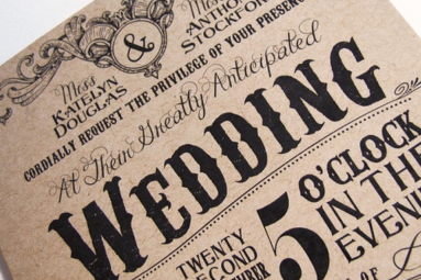 wedding invitation vintage