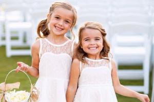 children at wedding