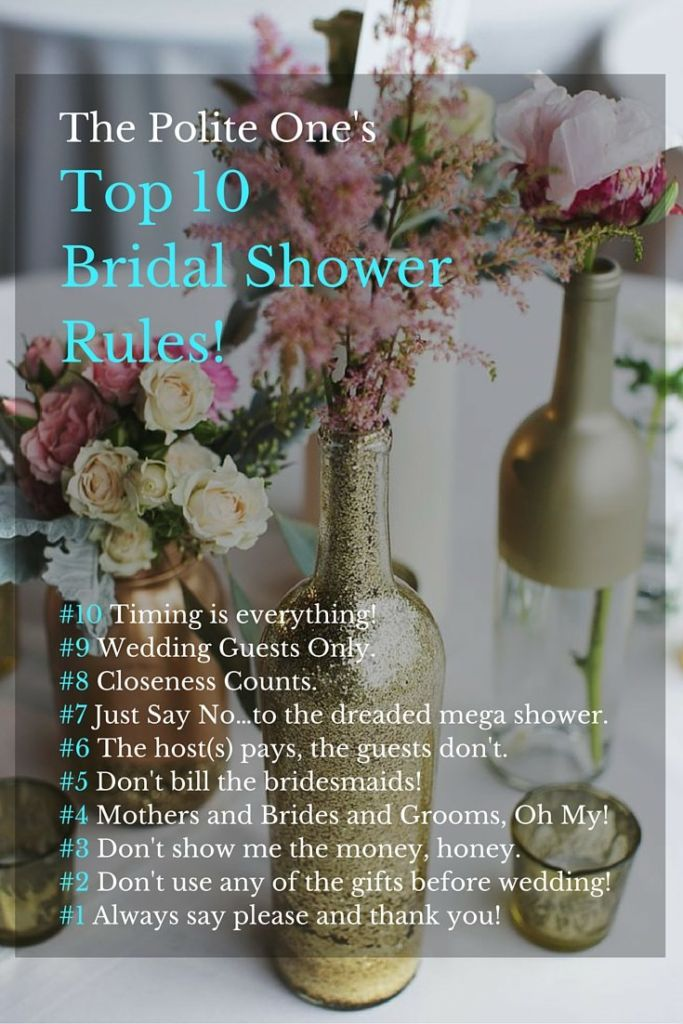 Top 10 Bridal Shower rules!