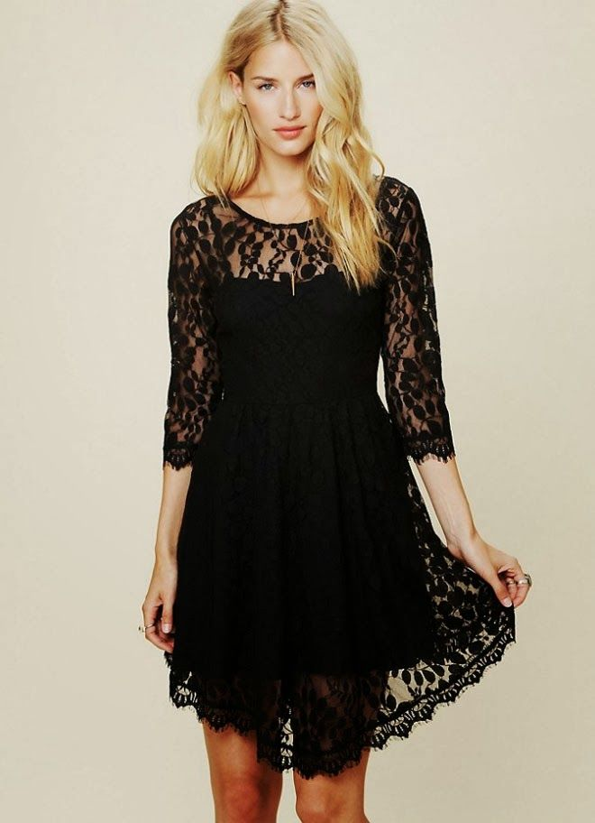 what wear rehearsal dinner - black dress with floreal prints