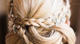 thick braid updo