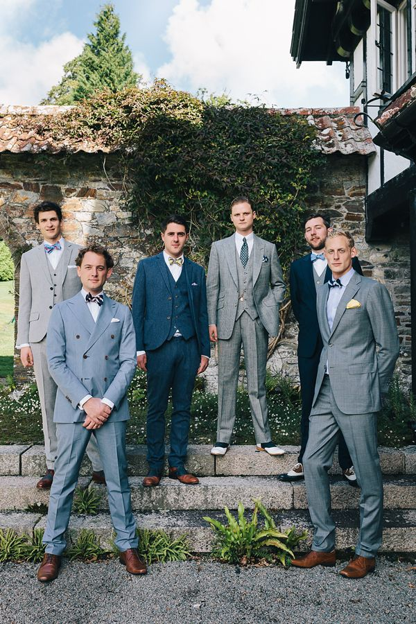 non matching groomsmen
