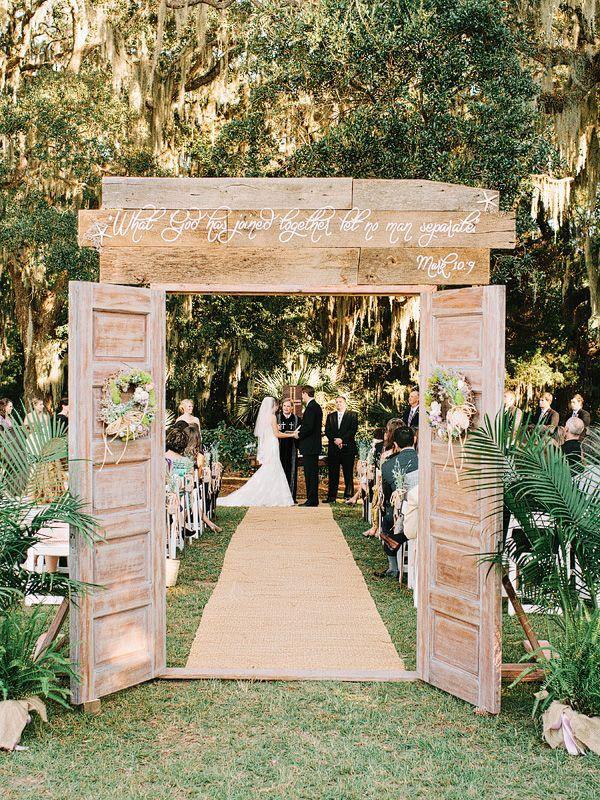 entrance outdoor wedding