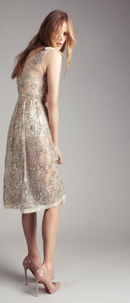 pretty rehearsal dinner dress