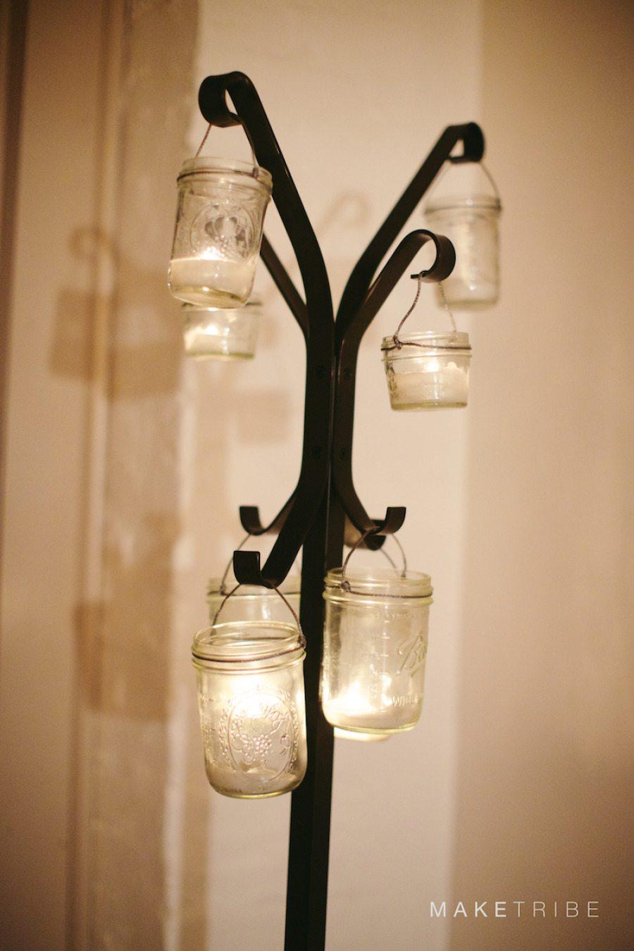 Mason Jar Wedding Lighting