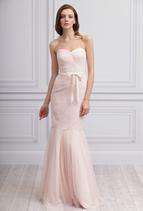 Blush Bridesmaids Gowns