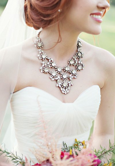 Bib Necklaces That Will Make Your Simple Wedding Gown POP ...