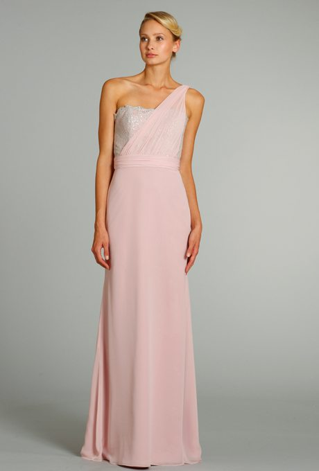 Blush Bridesmaids Gowns