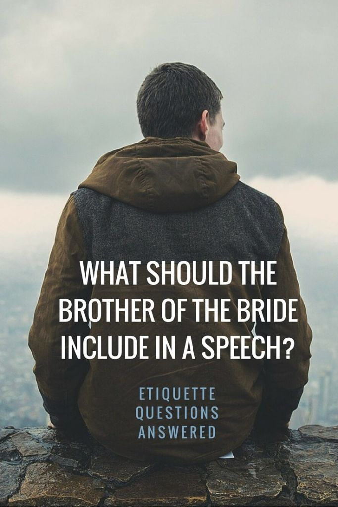 Guide To Brother Of The Bride Speech