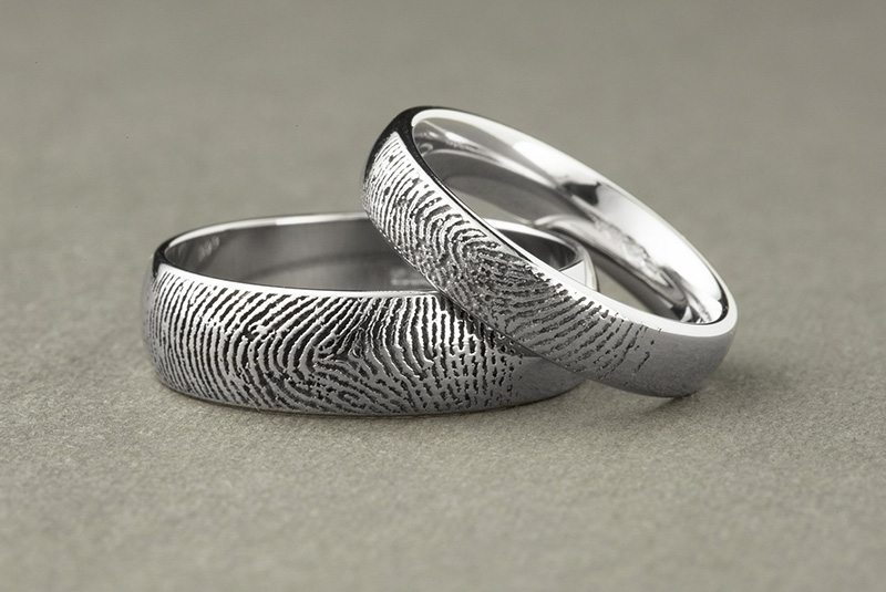 Fingerprint-Wedding-Rings-Graphite-Background