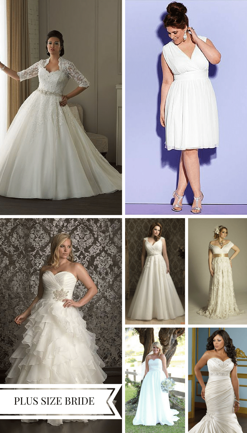 Choosing the perfect wedding dress for your body type for Wedding dress for apple shaped plus size