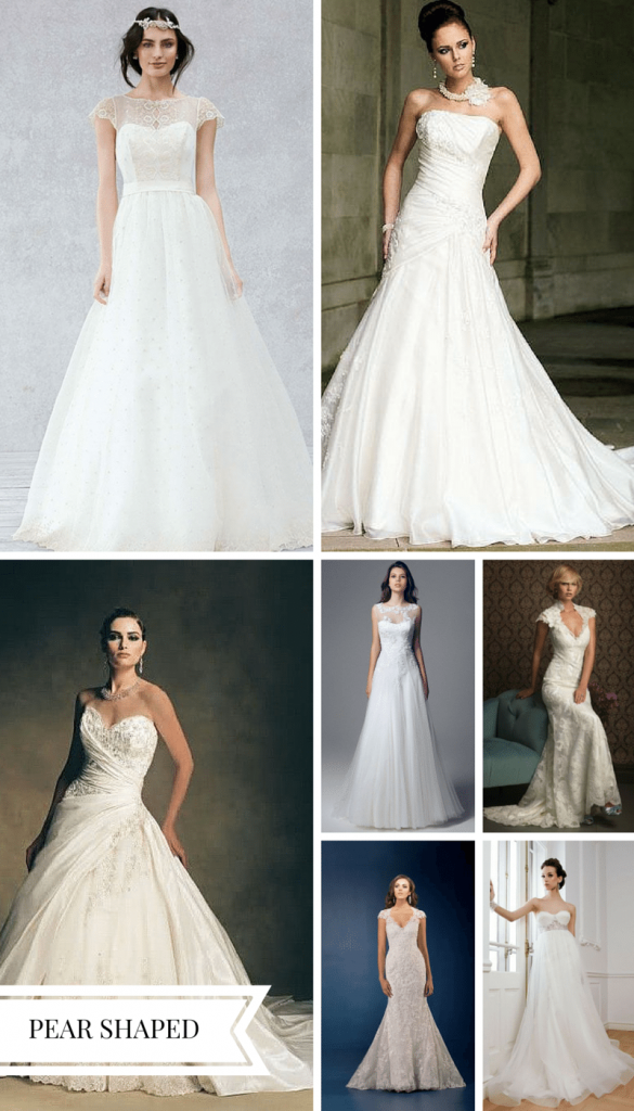 wedding dress for pear shaped bride
