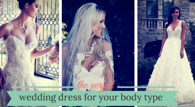 perfect wedding dress for your body type
