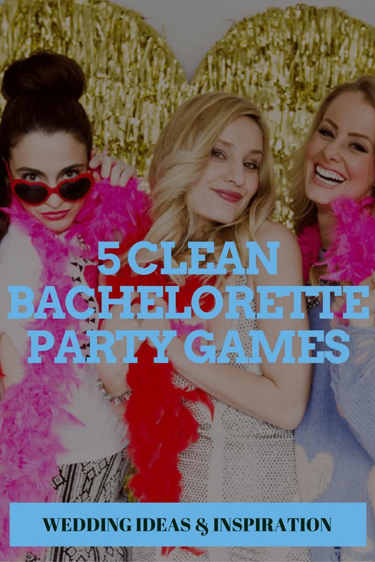 5 clean bachelorette party games