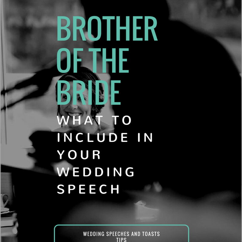 What To Include In Your Brother Of The Bride Speech