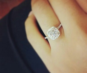 unique diamond engagement ring