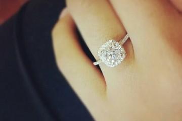unique diamond engagement ring