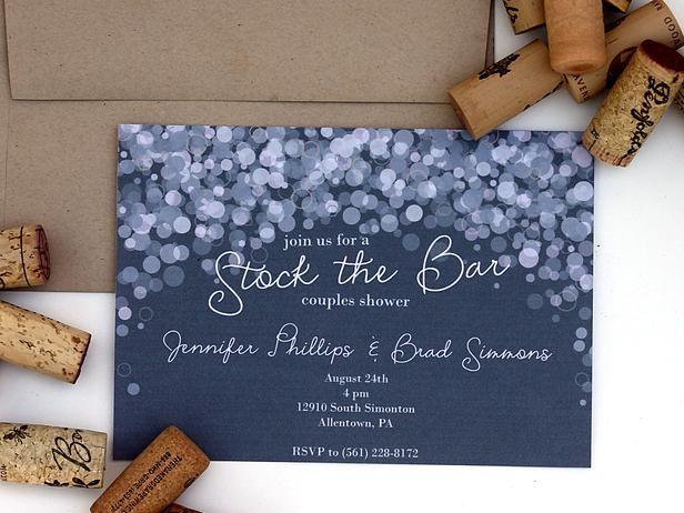 The Bubbly Bridal Shower Invitation. Source Source