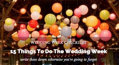 wedding week checklist