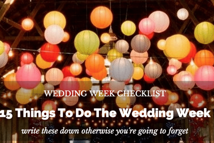 wedding week checklist