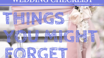 wedding checklist things you forget