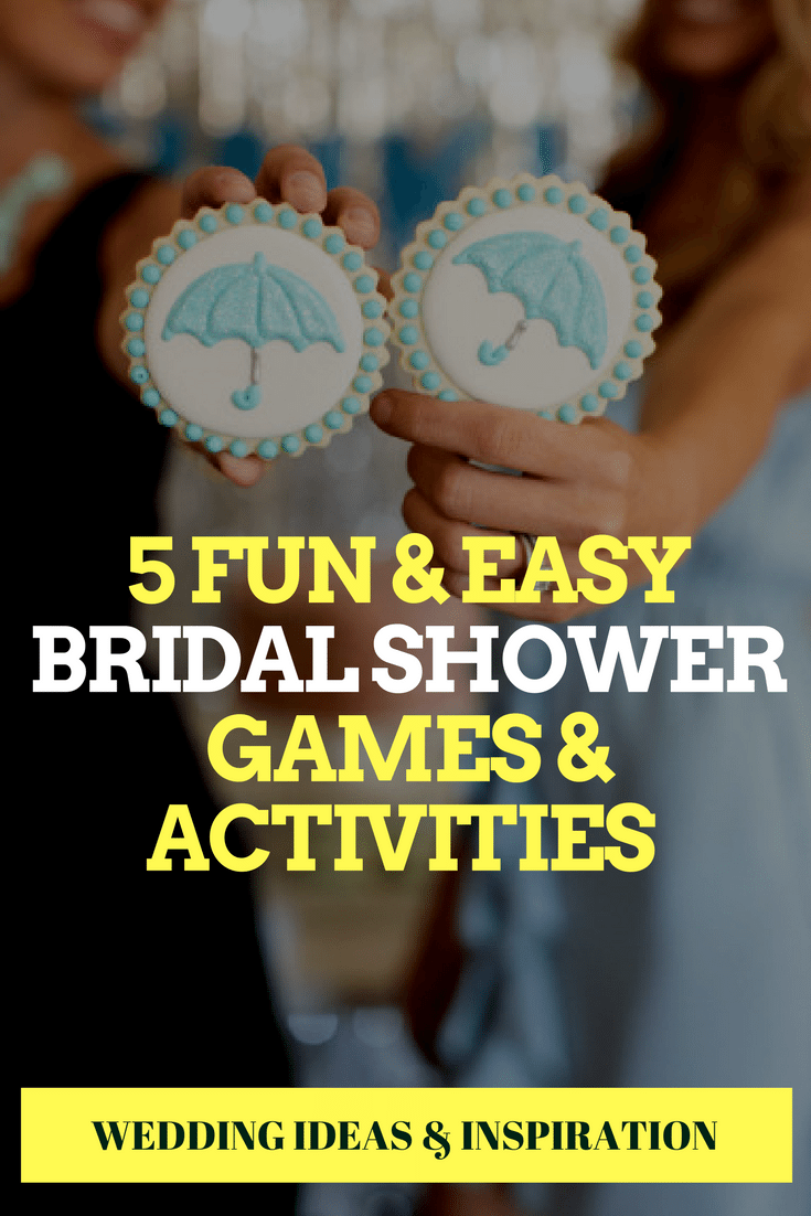 5 fun easy bridal shower games activities
