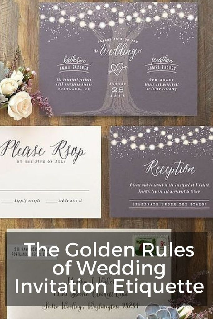 The golden rules of wedding invitation etiquette wording for Wedding invitation etiquette phd