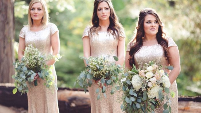 Gold Fall Bridesmaids