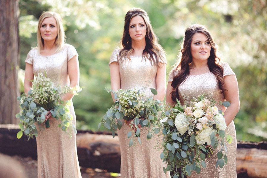 Gold Fall Bridesmaids