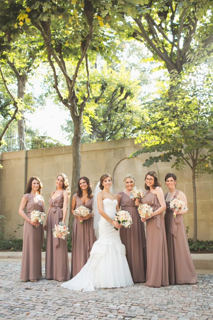 Brown Fall Bridesmaids