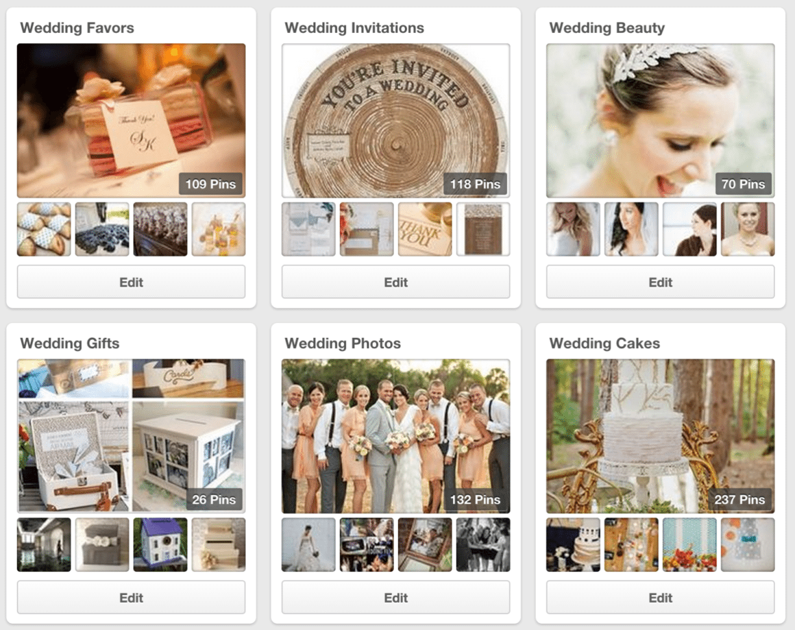 pinterest for weddings
