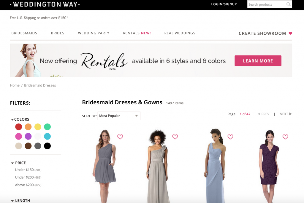 bridesmaid dress try before you buy