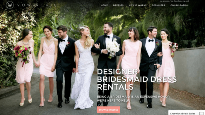 designer bridesmaid dress rentals
