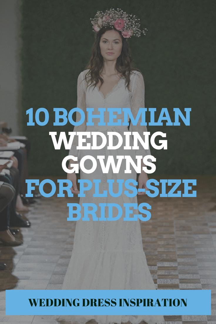 Bohemian Beauties For Plus-Size Brides