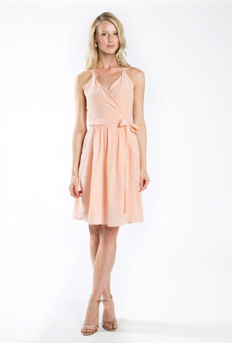 Peach Bridesmaids Dresses