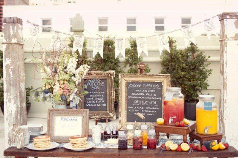 Pancake Wedding Reception Food Bar