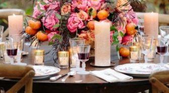 Sunset Orange and Yellow Wedding Reception Decor