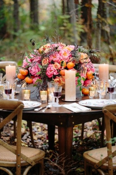 Beautiful Sunset Colored Reception Ideas Topweddingsites