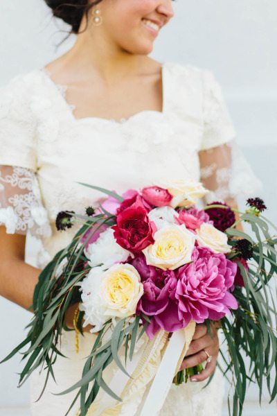 Purple Plum Bridal Bouquets
