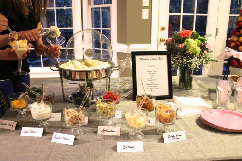Mashed Potato Wedding Reception Food Bar