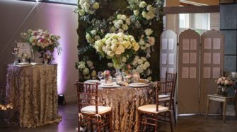 Flower Wall Reception Design