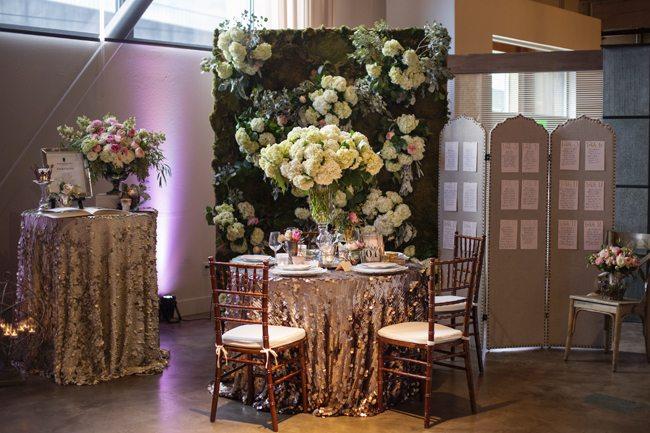 Flower Wall Reception Design