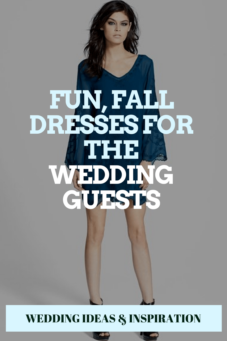Fun, Fall Dresses for the Wedding Guests